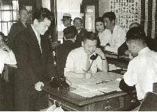 昭和28年2月 株式ブームの店頭で